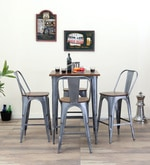 Novo Four Seater Bar set in Zinc Color