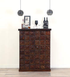 Norman Large Bar Cabinet In Warm Chestnut Finish