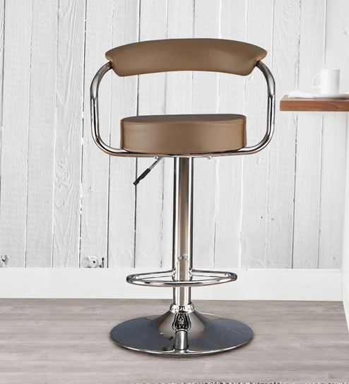 Cool Nook Bar Stool In Brown Leatherette By Hometown Onthecornerstone Fun Painted Chair Ideas Images Onthecornerstoneorg