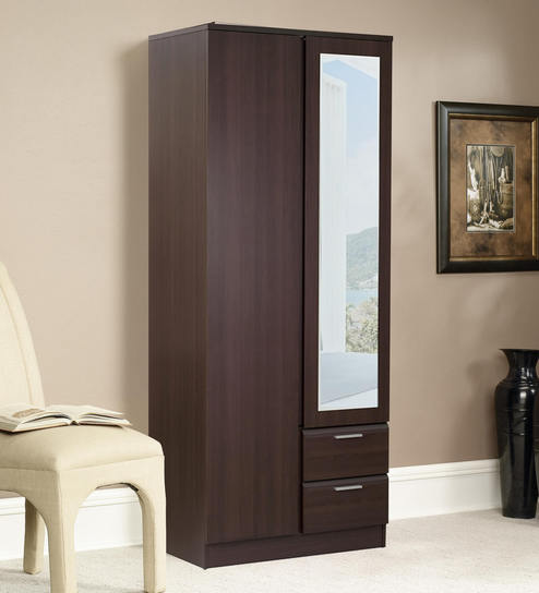 Buy Noriko Two Door Wardrobe With Two Drawers And Mirror In