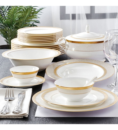 Odessa Gold Bone China 61-Piece Dinner Set by Noritake & Buy Noritake Odessa Gold Bone China 61-piece Dinner Set Online ...