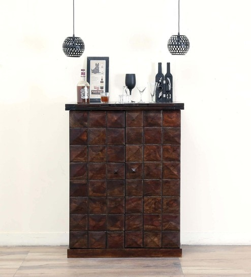 buy norman solid wood large bar cabinet in warm chestnut finish by rh pepperfry com universal furniture bar cabinet pepperfry furniture bar cabinets
