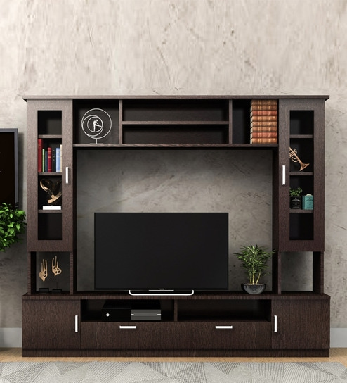 Norwica TV Unit in Wenge Colour by Forzza
