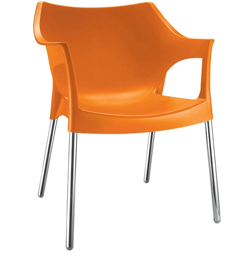 Etonnant Novella Chair In Orange Colour By Nilkamal