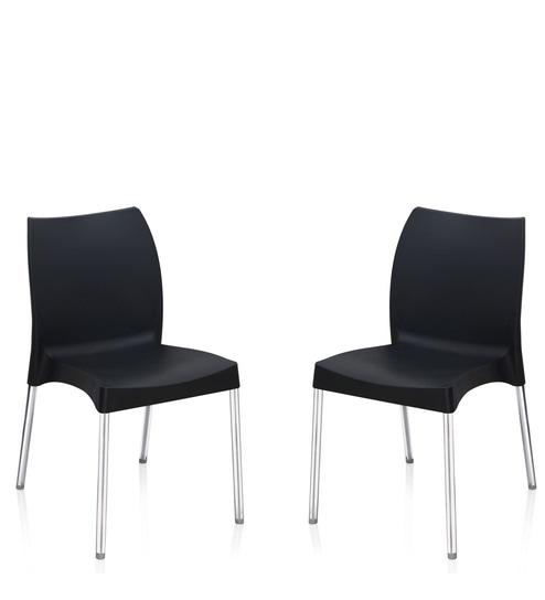 Novella Series - 7 Set of 2 Chairs in Black Colour by Nilkamal  sc 1 st  Pepperfry & Buy Novella Series - 7 Set of 2 Chairs in Black Colour by Nilkamal ...
