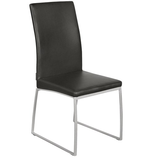 Captivating Novice Dining Chair (Set Of 2) In Silver U0026 Black Colour By Godrej Interio