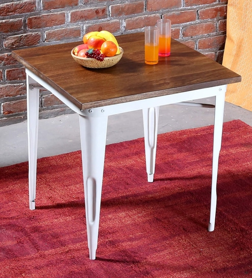 Buy Novo Four Seater Dining Table In White Colour By Bohemiana