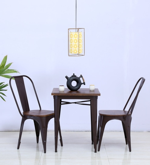 Novo Two Seater Dining Set In Brown Color By Bohemiana
