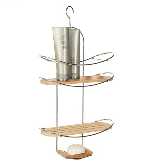 Buy Now & Zen Bamboo & Chrome Shower Caddy Online - Bathroom Shelves ...