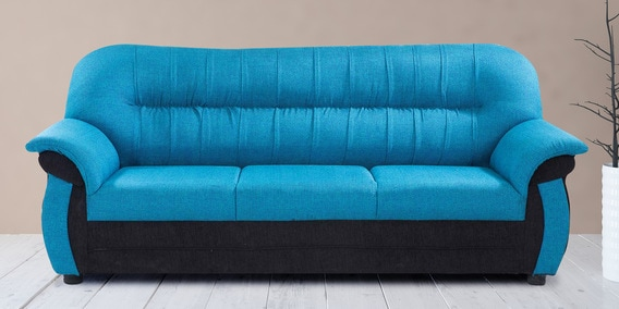 Northwest Three Seater Sofa In Blue Color By Looking Good Furniture