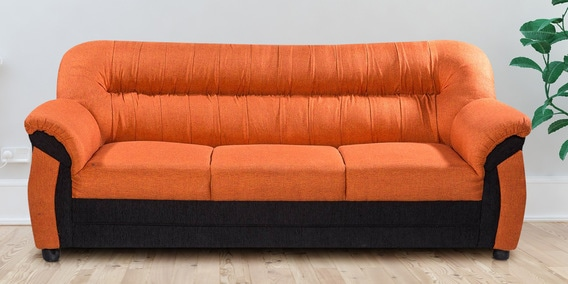 Northwest Three Seater Sofa In Orange Color By Looking Good Furniture