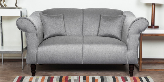 Nottingham Heaven Two Seater Sofa In Grey Colour By Urban Living