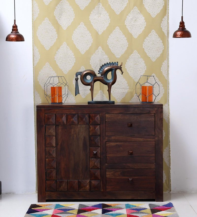 Norman Sideboard in Provincial Teak Finish by Woodsworth
