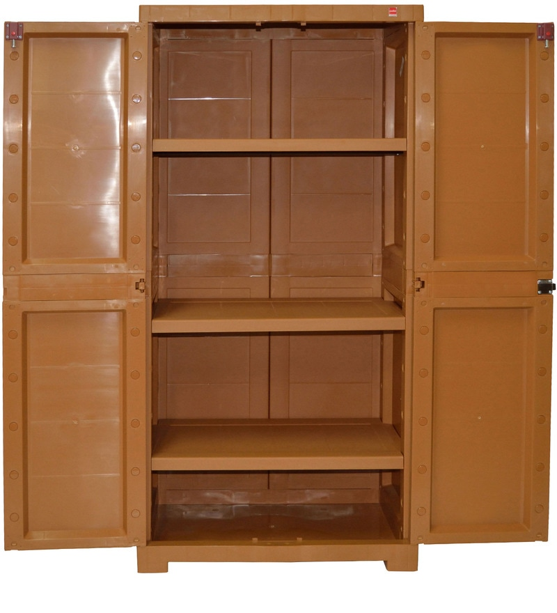 Buy Novelty Big Storage Cabinet In Brown Colour By Cello