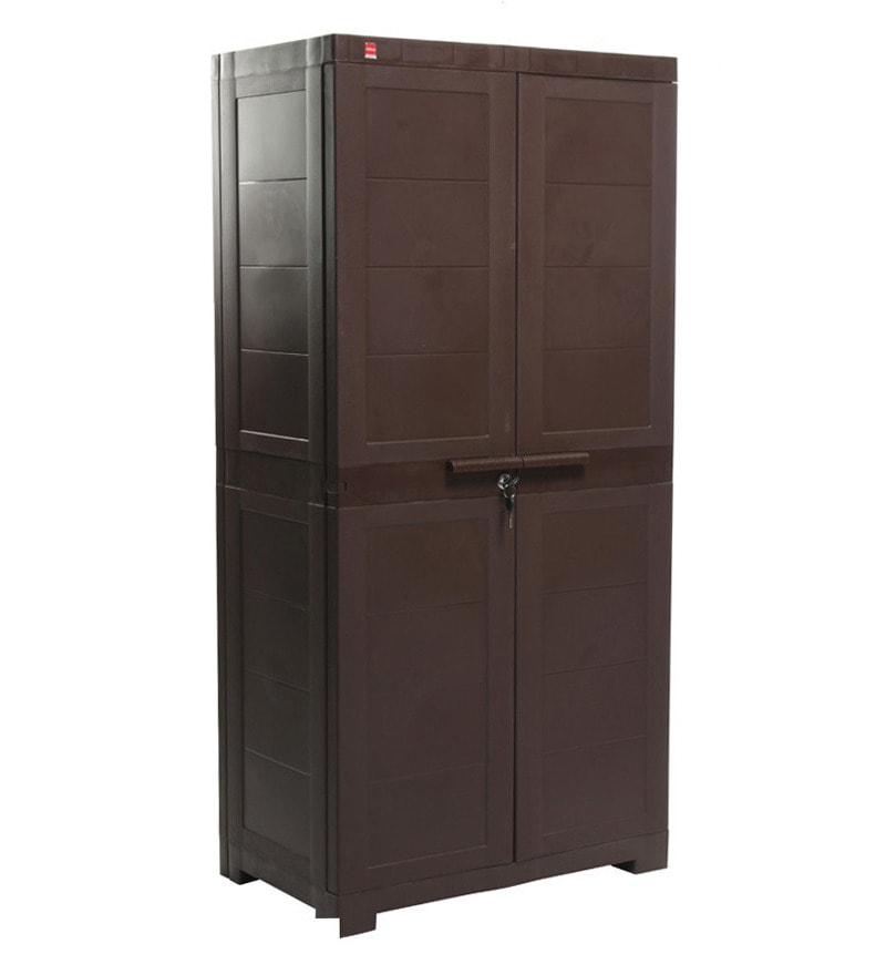 Best Place To Buy Kitchen Cabinets Online: Buy Novelty Big Storage Cabinet In Pearl Brown Colour By