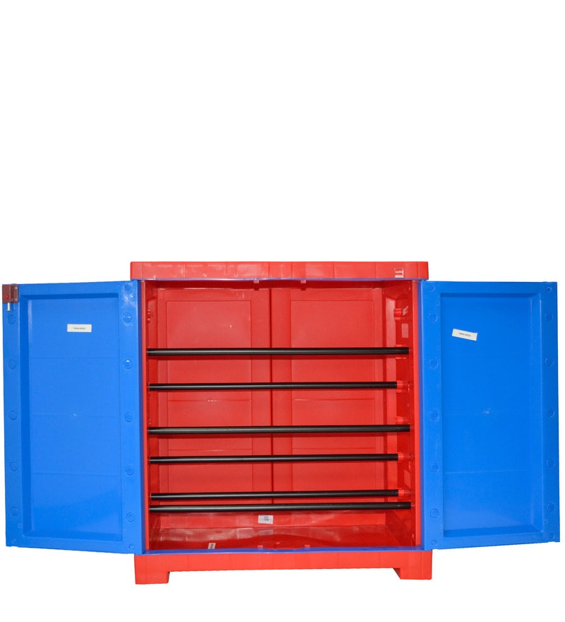 Buy Novelty Compact Shoe Rack In Red Amp Blue Colour By