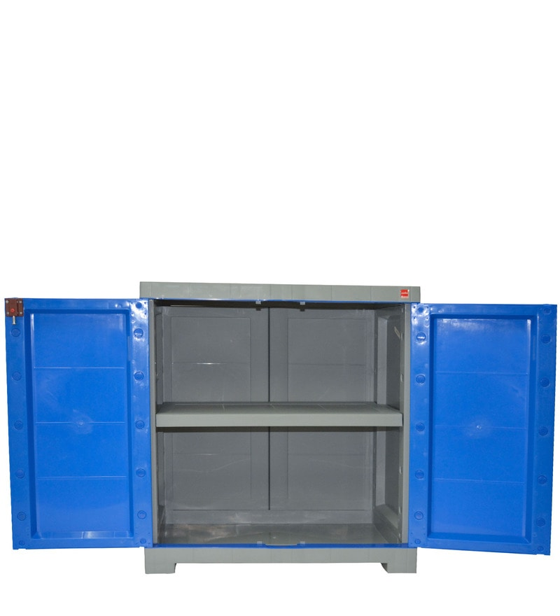 Buy Novelty Compact Storage Cabinet in Grey & Blue colour by Cello ...