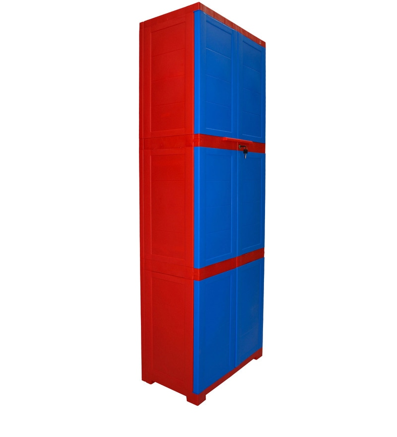 Buy Novelty Large Storage Cabinet In Red Amp Blue Colour By