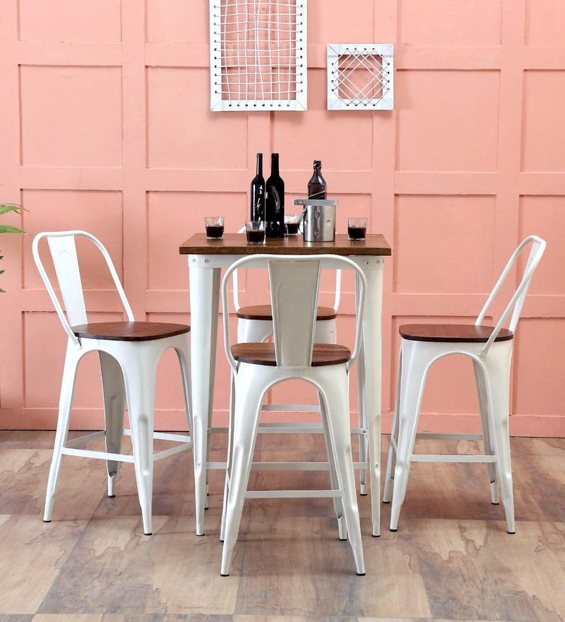 Buy Novo Four Seater Bar set in White Color by Bohemiana Online ...