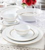 Gloria White Porcelain 13-Piece Dinner Set by Noritake