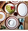 Marble Red Porcelain 21-Piece Dinner Set by Noritake