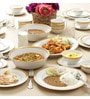 Signature White & Gold Porcelain 45-Piece Dinner Set by Noritake