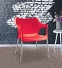 Novella Chair in Red Colour by Nilkamal