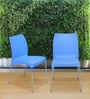 Novella Series - 7 (Set of 2) Chairs in Blue Colour by Nilkamal