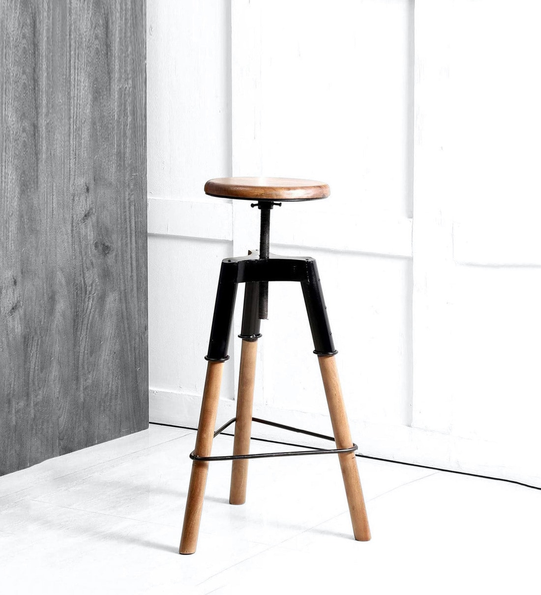 - Buy Nucla Bar Stool In Black Colour By Bohemiana Online