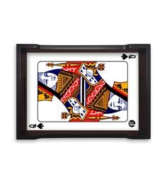 Nutcase Queen Of This Home Multicolour Pinewood Serving Tray