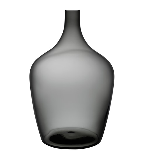 Buy Black Glass Dame Jeanne Smoke Demijohn Vase by Nude Online ...