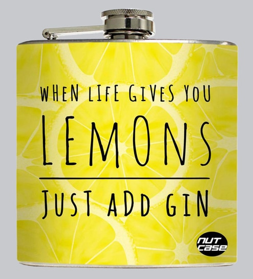 Buy Lemon Gin 207 Ml Hip Flask Online Hip Flasks Bar