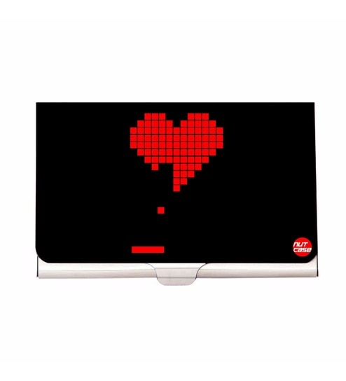 Buy Multicolour Pong Game Heart Tetris Stainless Steel Visiting Card