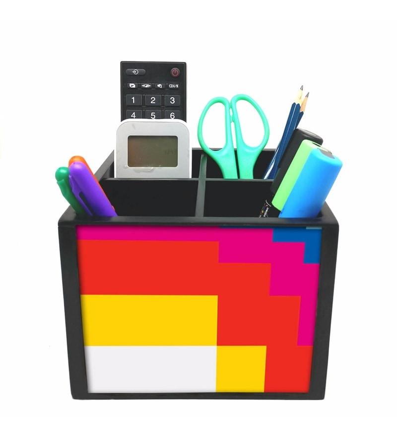 Nutcase 4 Slot Blocks Wood Desktop Storage Holder Stand