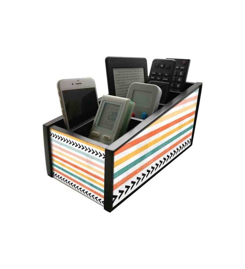 Nutcase Colourful Waves Wood Remote Control Stand