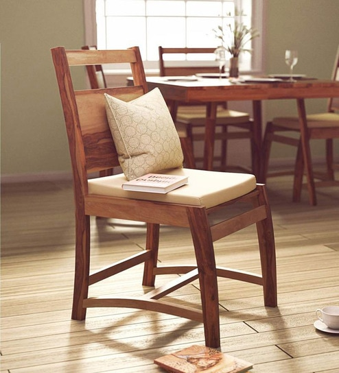 Oakland Dining Chair In Natural Sheesham Wood Finish By Woodsworth