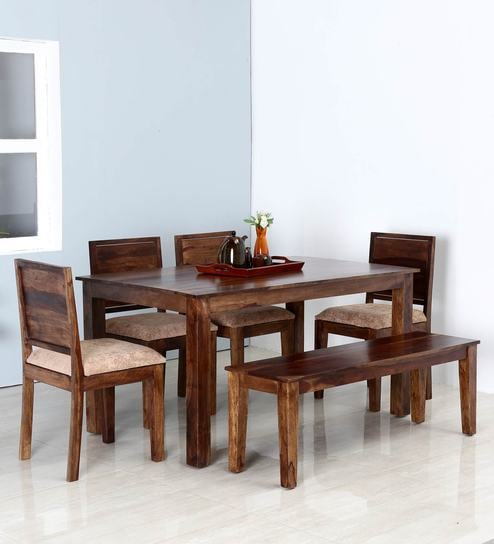 Buy Oakville Six Seater Dining Set in Provincial Teak Finish by