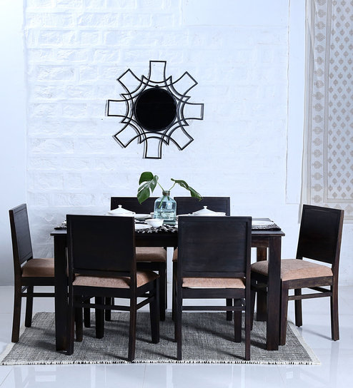 Buy Oakville Six Seater Dining Set in Warm Chestnut Finish by ...