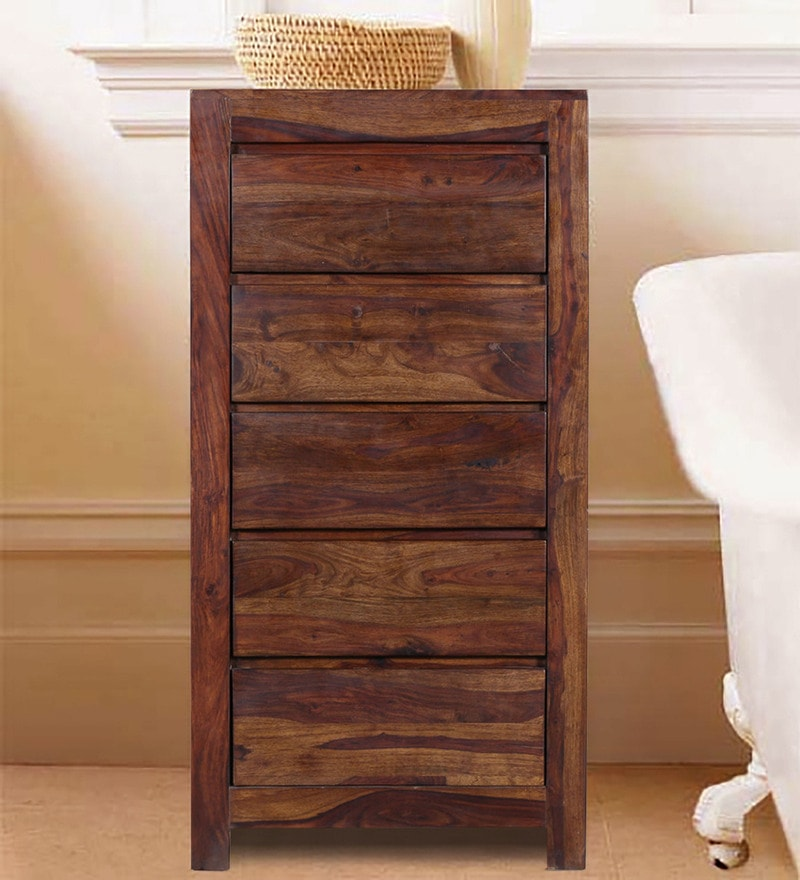 Oakland Solid Wood Chest of Drawers in Provincial Teak Finish by Woodsworth
