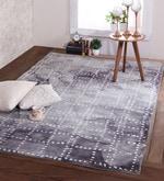 Blue & Ivory Wool 96 x 60 Inch Distress Carpet