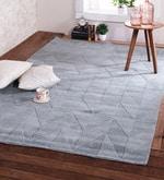 Blue & Sage Wool 96 x 60 Inch Andes Carpet