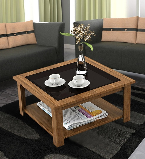Buy Oberon Coffee Table in Natural Teak Finish by Mintwud ...