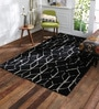 Obeetee Black Wool 60 x 96 Inch Prism Carpet