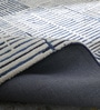 Blue & Ivory Wool 60 x 96 Inch Textura Carpet by Obeetee