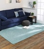 Blue Wool 60 x 96 Inch Suzaro Carpet by Obeetee