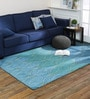Blue Wool 60 x 96 Inch Yarkand Carpet by Obeetee