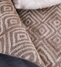 Brown Wool 96 x 60 Inch Devin Carpet by Obeetee