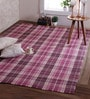 Dark Berry Apple Wool 84 x 60 Inch Mulholland Carpet by Obeetee