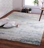 Green & Purple Wool 96 x 60 Inch Baga Carpet by Obeetee