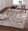 Grey Wool 96 x 60 Inch Maya Persian Carpet by Obeetee